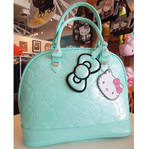 792d5e2aa Mint Hello Kitty Embossed Bag | Awesome Accessories. | Hello kitty ...