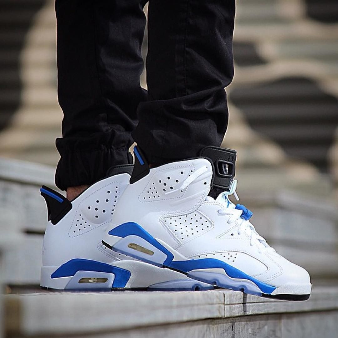 Kickbackzny Com On Instagram Shop Nike Air Jordan 6 Retro Sport Blue At Kickbackzny Com Air Jordans Sneakers Men Fashion Popular Basketball Shoes