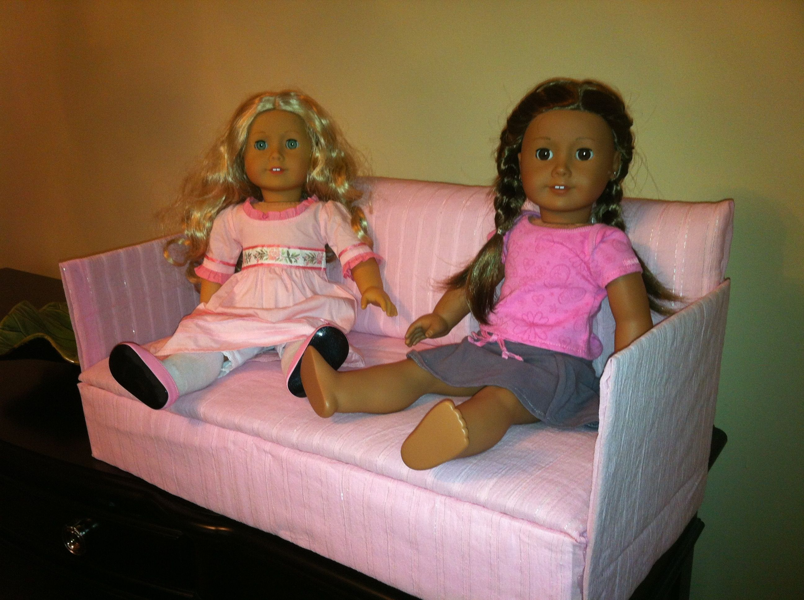 18 inch doll chair diy pilot ready room a sofa or couch for american girl dolls