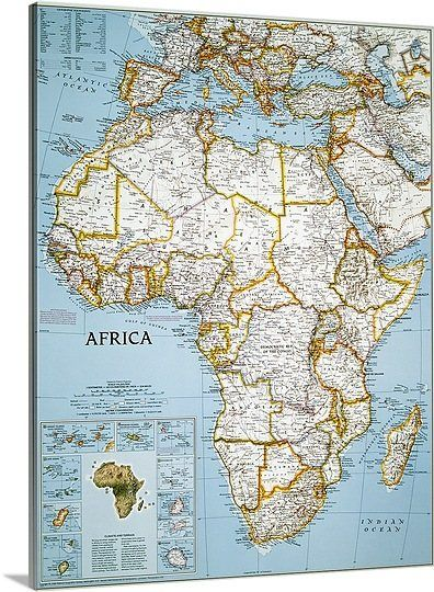 National Geographic Political Map Of Africa National Geographic - National geographic political map