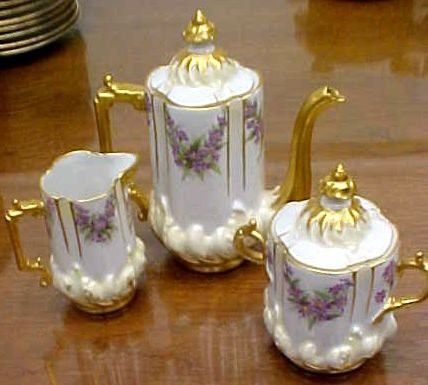 Add Me to Your Favorite Sellers ANTIQUE LIMOGES HAND PAINTED TEA ...