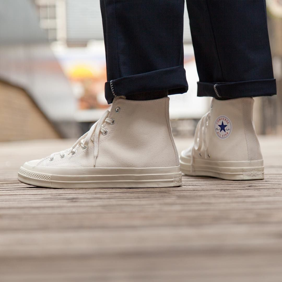 Natural Chuck Taylor All Star 70 Hi . SS17 Converse coming in thick and fast!   converse  converse  chucktaylor  allstar  dickies  NumberSix   NumberSixLondon 92c45b0ab