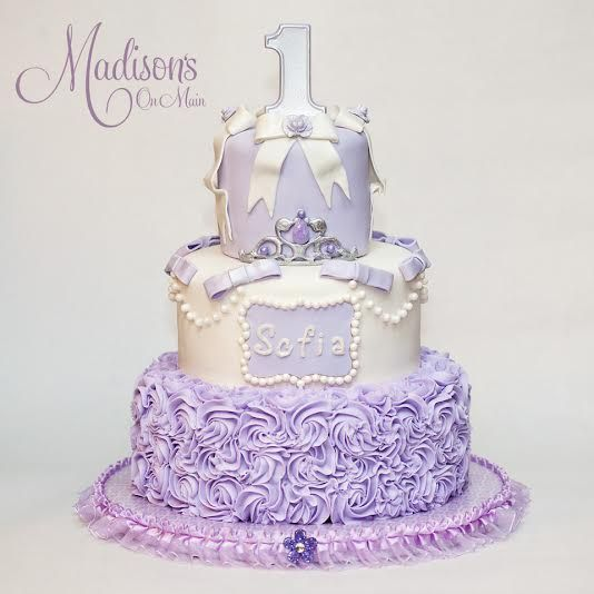 Phenomenal A Sofia The First Themed Birthday Cake For A Little Girl Named Funny Birthday Cards Online Overcheapnameinfo