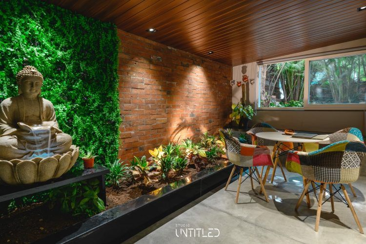 Modern Yet Earthen Feel Office Interiors Studio Untitled The Architects Diary Office Interiors Modern Office Interiors Bungalow Design