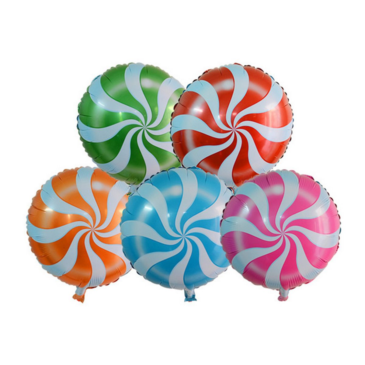 Yellow Swirly Lollipop Foil Balloon 18 Candy Swirl Balloon Candy Land Party Decor Candy Christmas Party Nutcracker Birthday Party