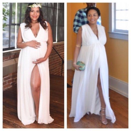 White Maternity Dress For Baby Shower Design Babies Pinterest