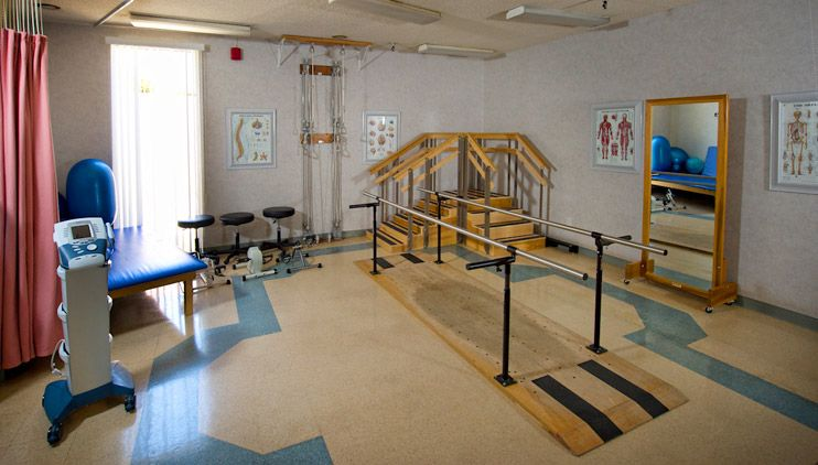 Similar to the room Wade does his physical therapy in