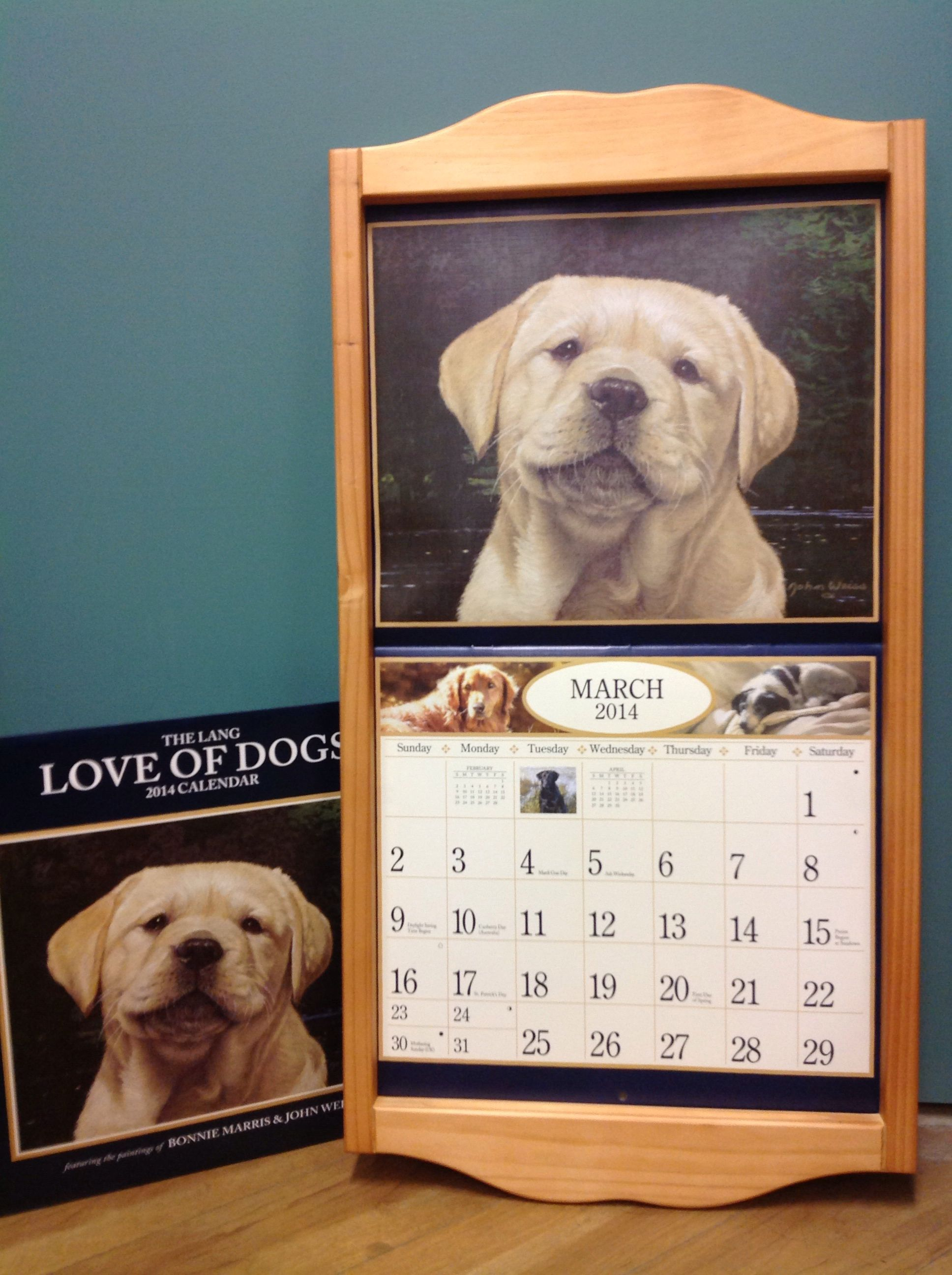 Lang Calendars And Wooden Frames Sold At A Grapevine Cottage