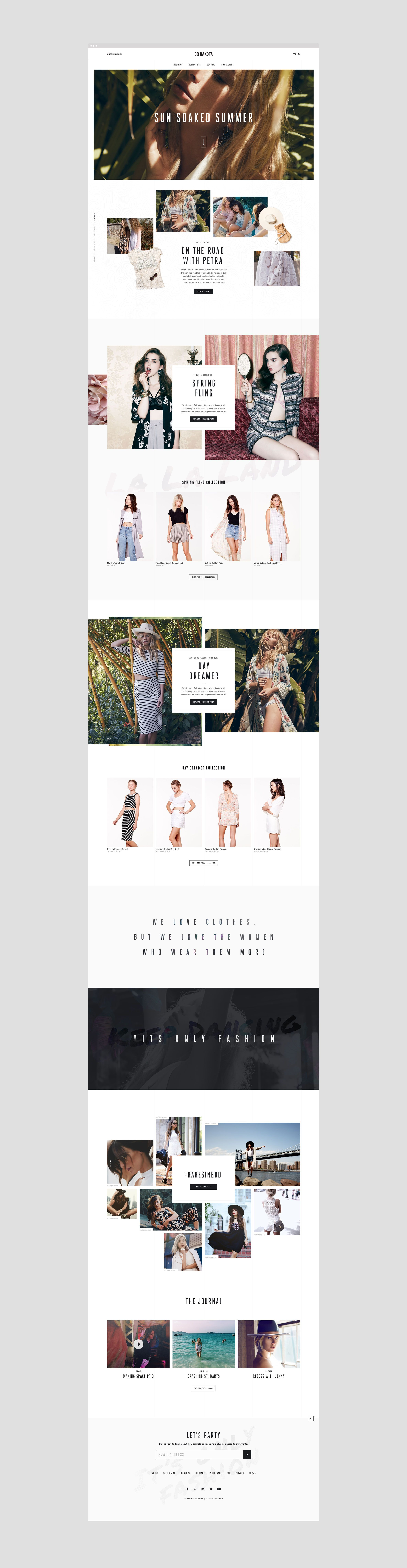 Bb dakota fashion ecommerce user experience and web for Fashion design agency