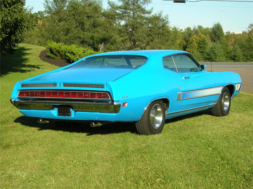 1970 Ford Torino Gt Fastback Rear 3 4 44449 With Images