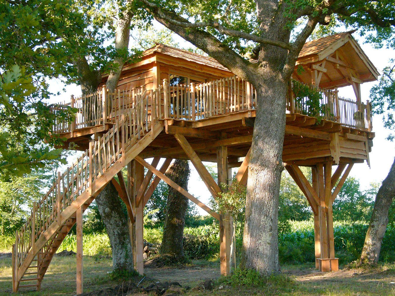 cabane arbre cabane pinterest les cabanes cabanes et les arbres. Black Bedroom Furniture Sets. Home Design Ideas
