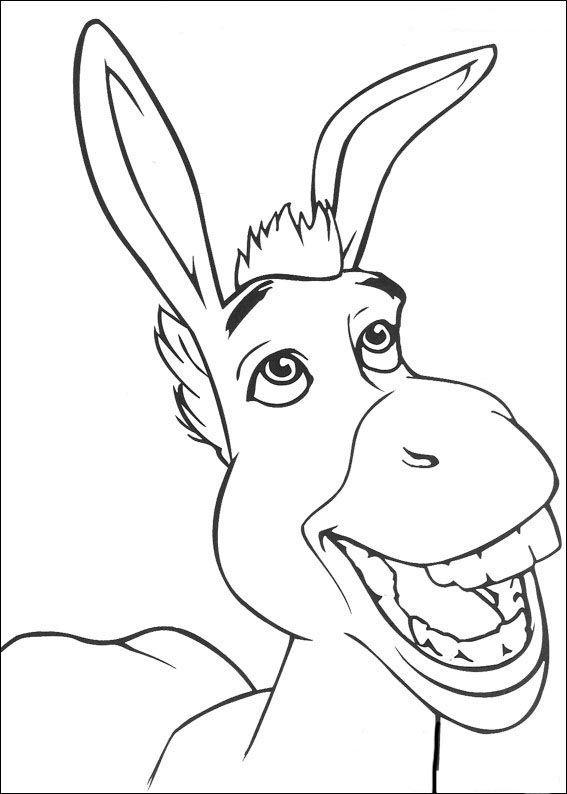 Coloriage dessins shrek 138 ane coloriage coloriage disney et dessin - Dessiner un ane ...