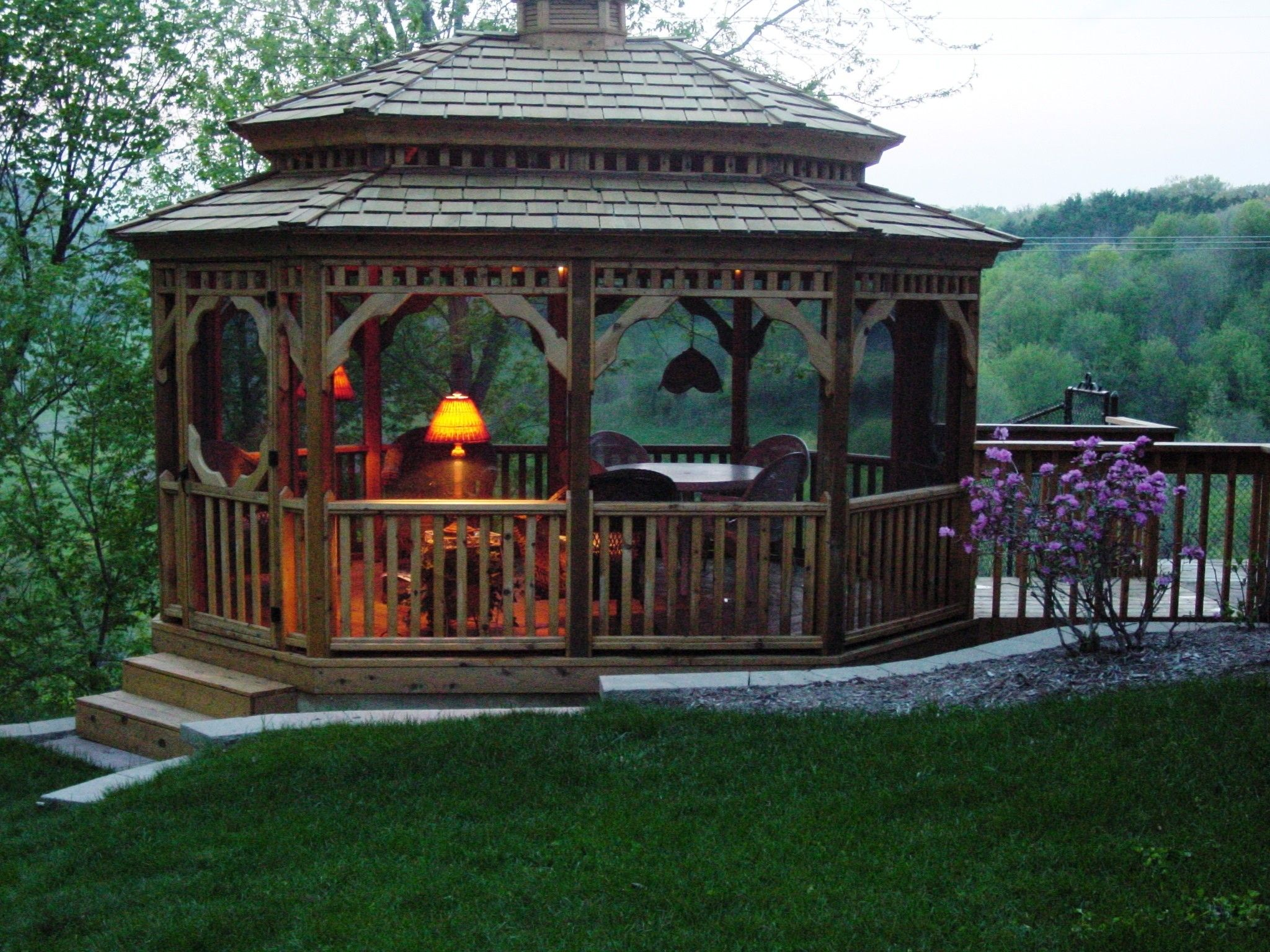 Furniture Garden Exterior Outdoor Party Light Ideas Terrific Barn Wood Double Roof Enclosed Porch Lights Gazebo Patio Ideas With Porch Alluring Exterior As Insp