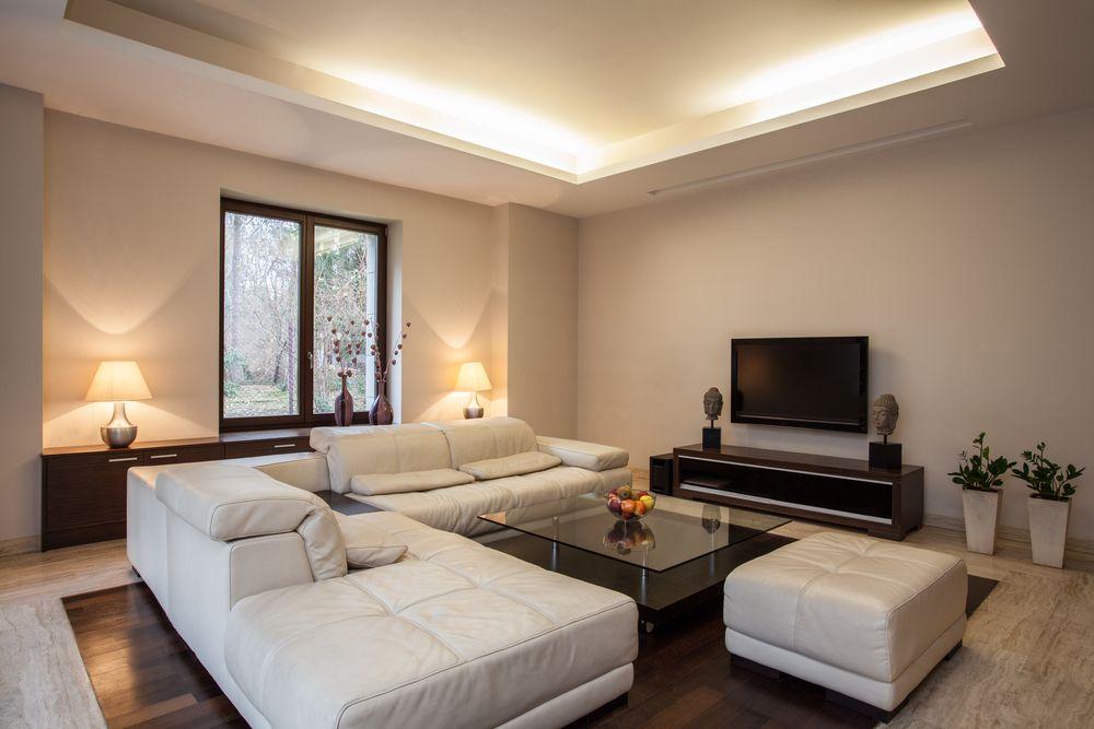 Deckengestaltung Wohnzimmer ~ Wohnzimmer küche weiß deckengestaltung versteckte leuchten