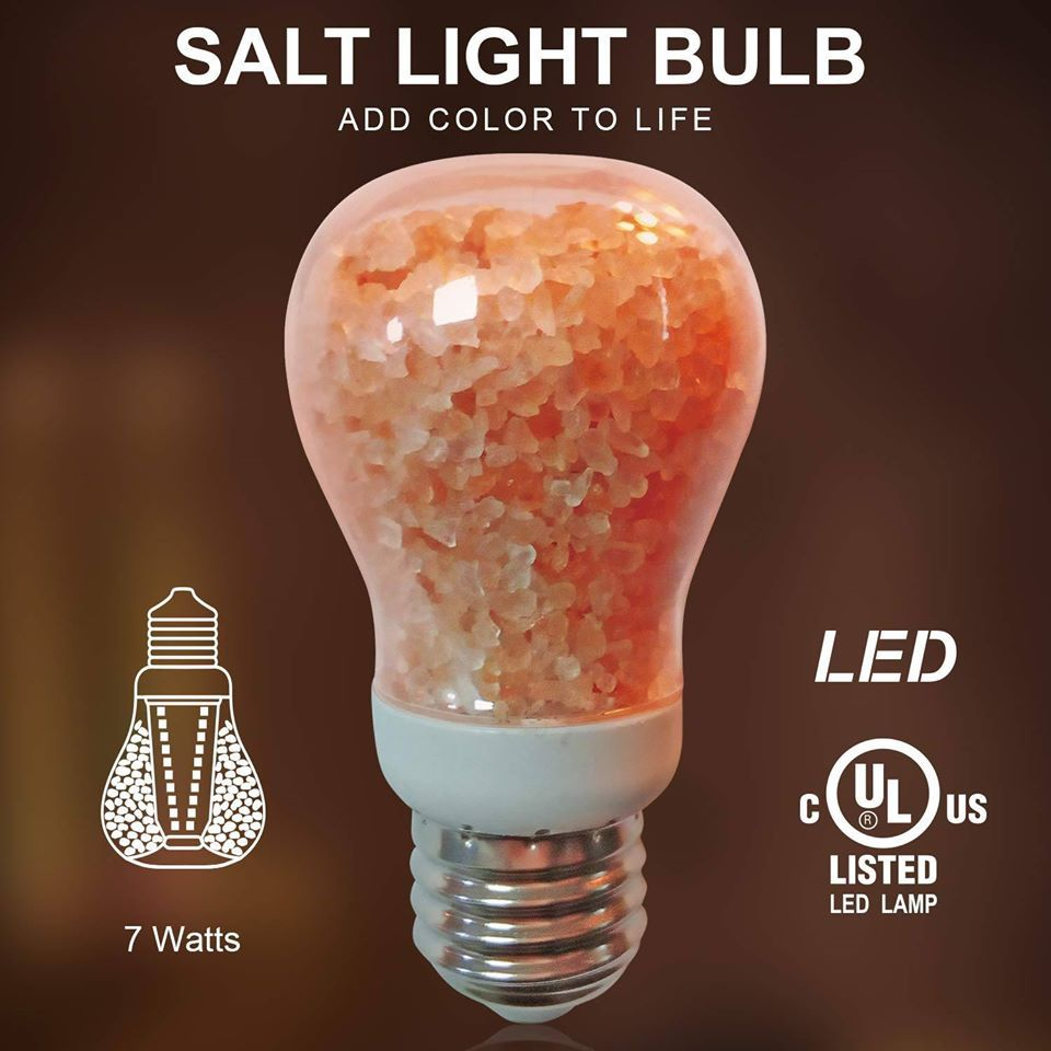 Himalayan Glow Salt Light Bulb In 2020 Salt And Light Bulb Light Bulbs