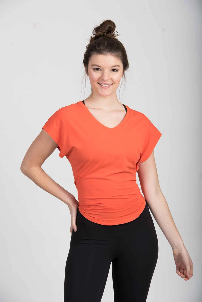 The Jaime Tie Up Tee Blaze Orange In 2020 Tees Relaxed Fit Blaze Orange Ptula the taylor stay true lounge legging 28 s. pinterest