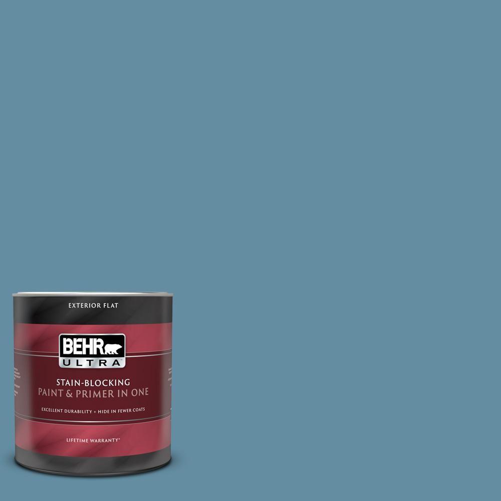 Behr Ultra 1 Qt Ppu14 04 French Court Flat Exterior Paint And Primer In One 485304 Exterior Paint Behr Ultra Exterior
