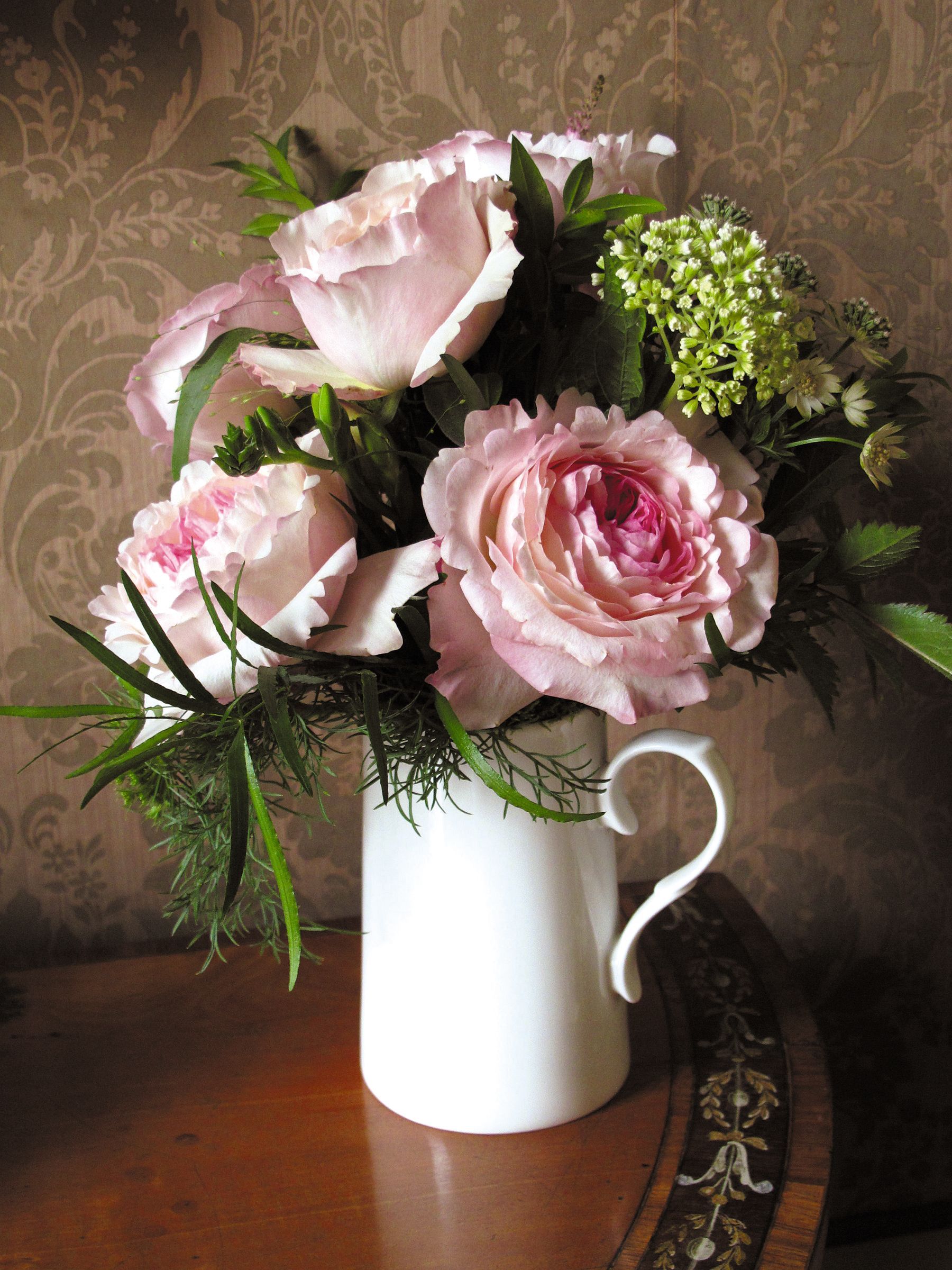 Easter wedding bouquets  Vintage blooms in a pretty jug   de mayo  Pinterest  Vintage
