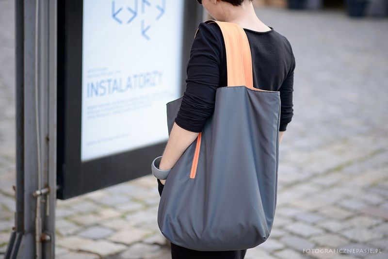 GRAPHITE - DUAL large, capacious bag - XXL with waterproof fabric. Four variants in one bag! by BandaBag