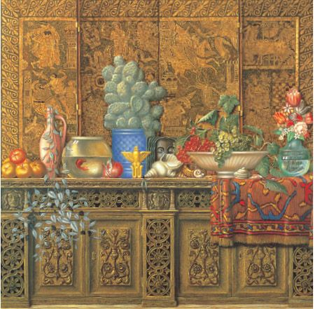 81. Large Still Life with Greek Screen, 1992–94