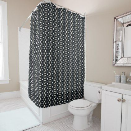 Black And White Diamonds Shower Curtain Bathroom Accessories - Bathroom accessories miami