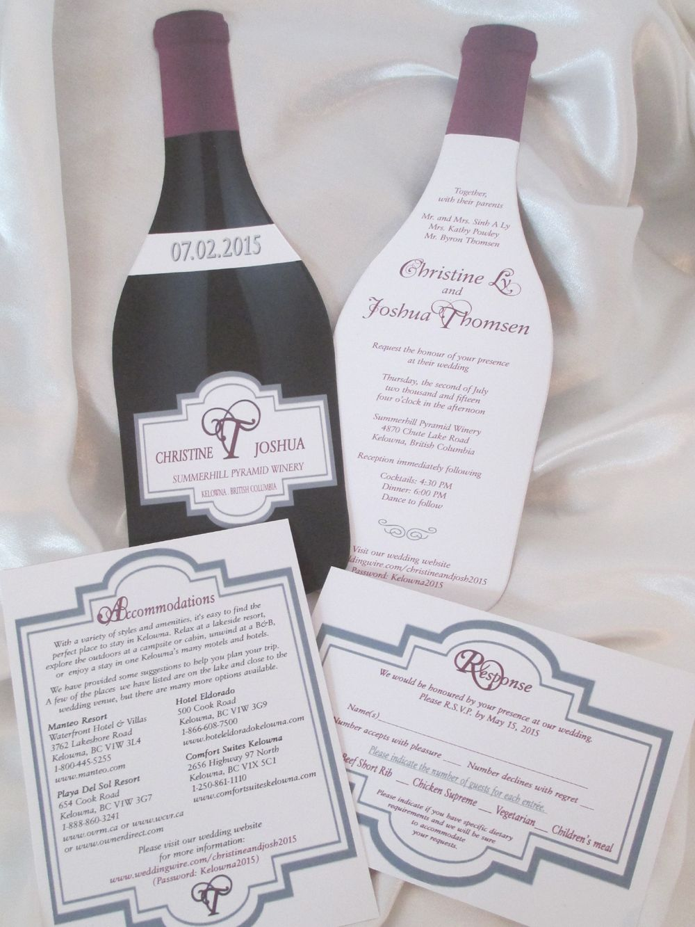 wine-bottle-shape-wedding-invite-response-accommodations | Wedding ...