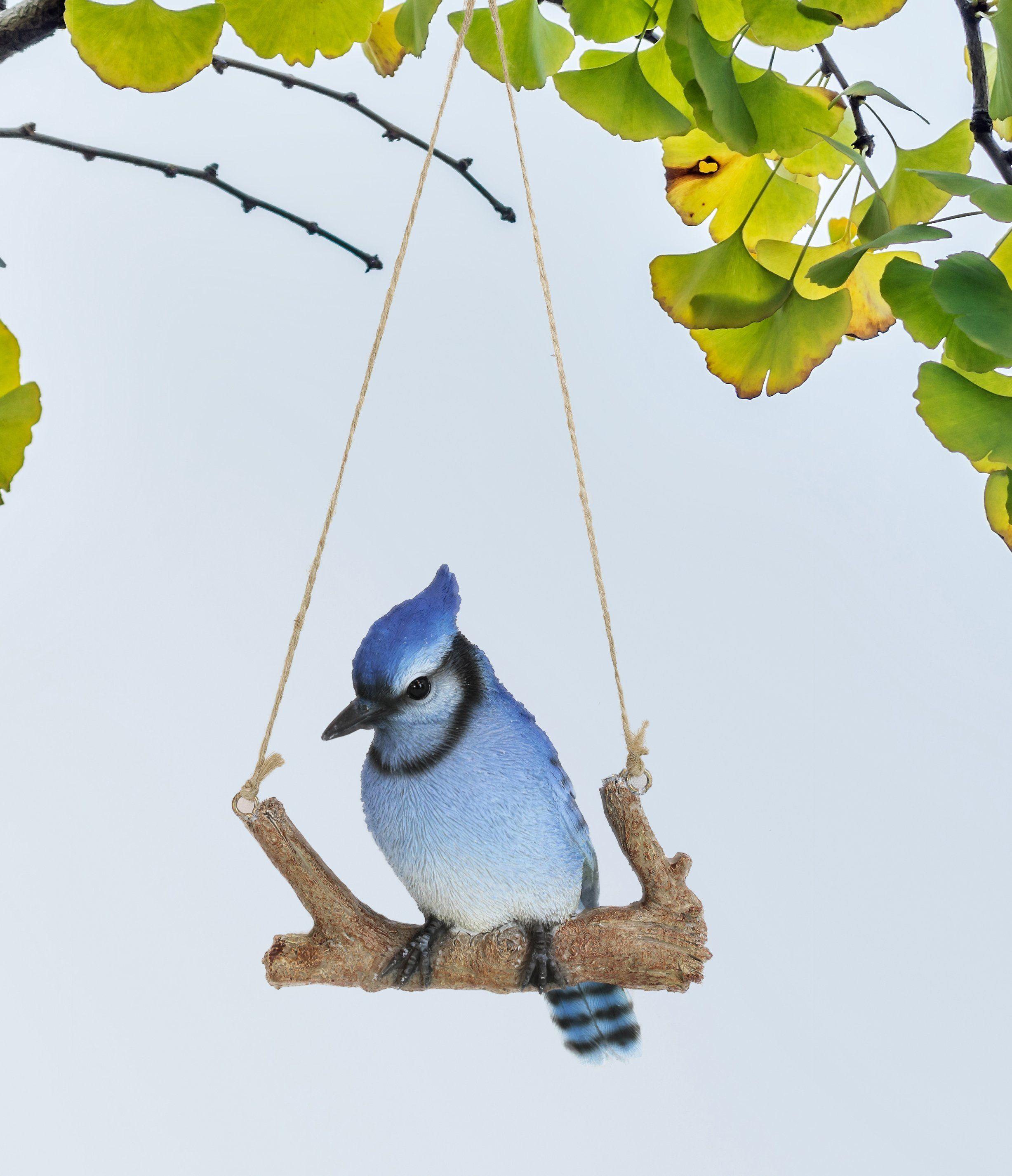 Home Garden Hanging Blue Jay Passerine Bird Perching On Branch Figurine Decor In 2021 Blue Jay Bird Jay Bird Blue Jay