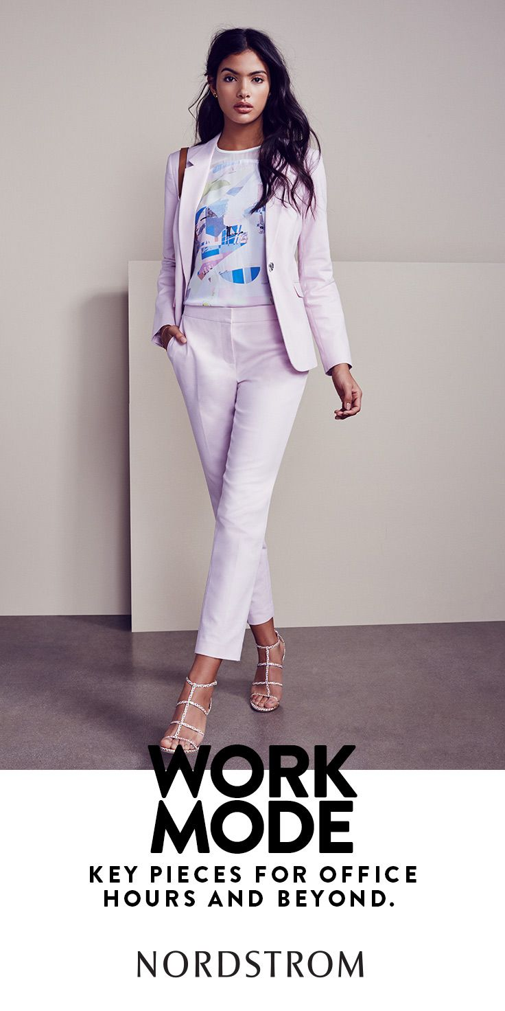 Pretty pastels transform your work wardrobe for spring.