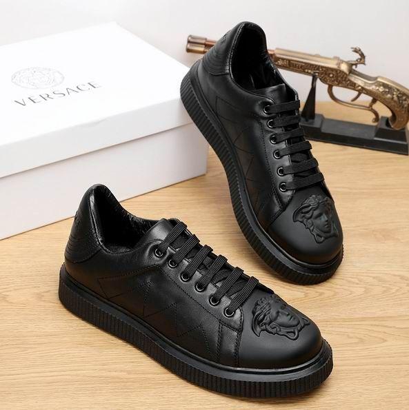 Versace Medusa Leather Nyx Sneakers | Tenis