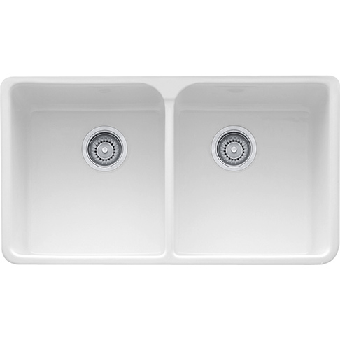 Manor House Mhk720 35 Fireclay White In 2020 Double Bowl Kitchen