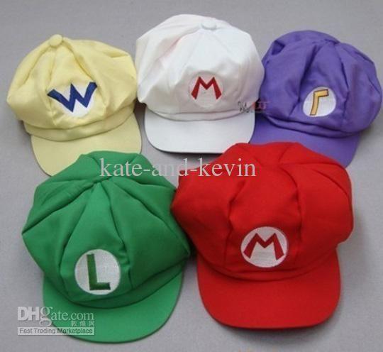 5b2605055958 5 Style Super Mario Bros Cotton Hat Luigi Movies   Video Game   Cartoon