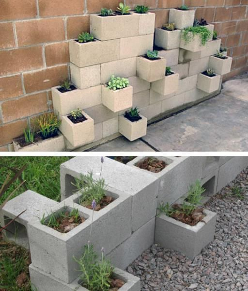 Ideas con bloques buscar con google outdoor design for Bloque de cemento para jardin