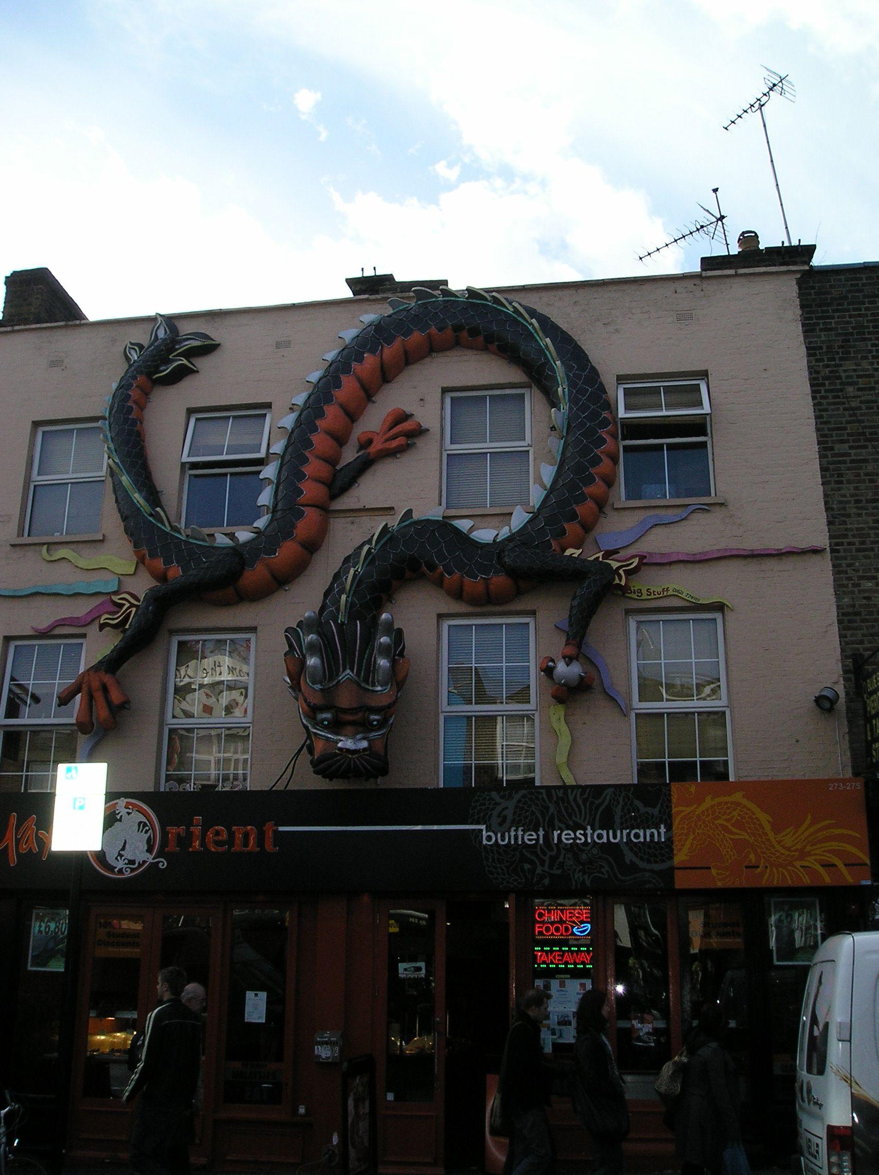 Camden Town: Dragon On Shop Facade - Camden Town (avec Images)