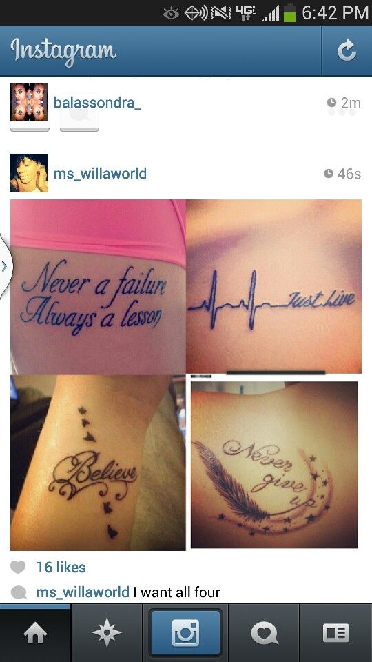 Love The Lettering And Wording Of Never A Failure Always A Lesson