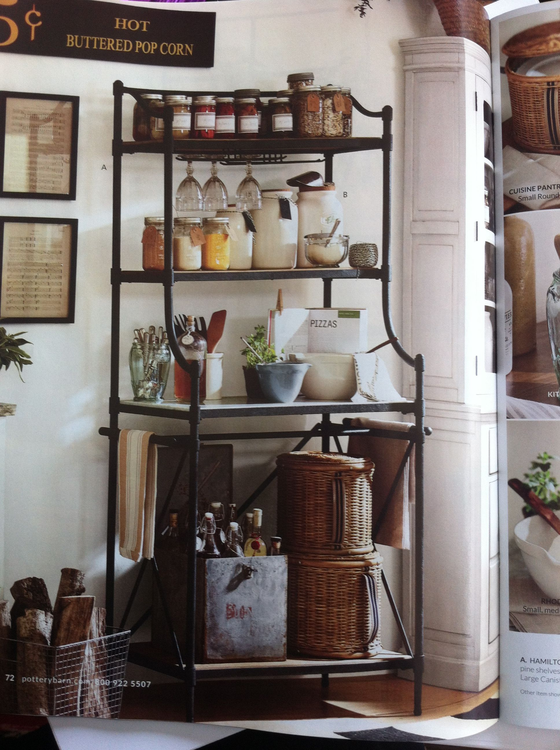 Pottery barn bakers rack | janet's fabulous cottage kitchen ideas ...