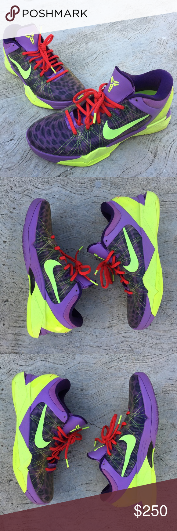 finest selection 749eb 79f51 Nike Zoom Kobe 7 VII Christmas Purple Cheetahs Nike Kobe 7 Christmas  edition in excellent condition. Original box, laces, and insole swaps for  extra ankle ...
