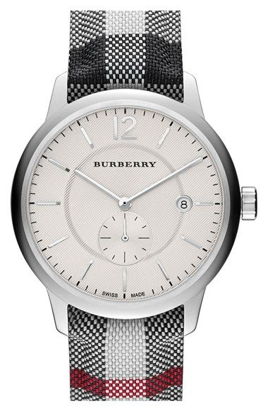 Burberry textured dial watch 40mm regular retail price available at nordstrom for Retail price watches