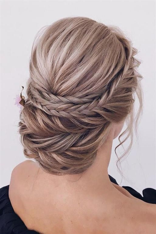 Classical Wedding Hairstyles Updo With Elegant Braids On Textured Long Hair Xenia Stylist Wedd Classic Wedding Hair Medium Hair Styles Wedding Hairstyles Updo