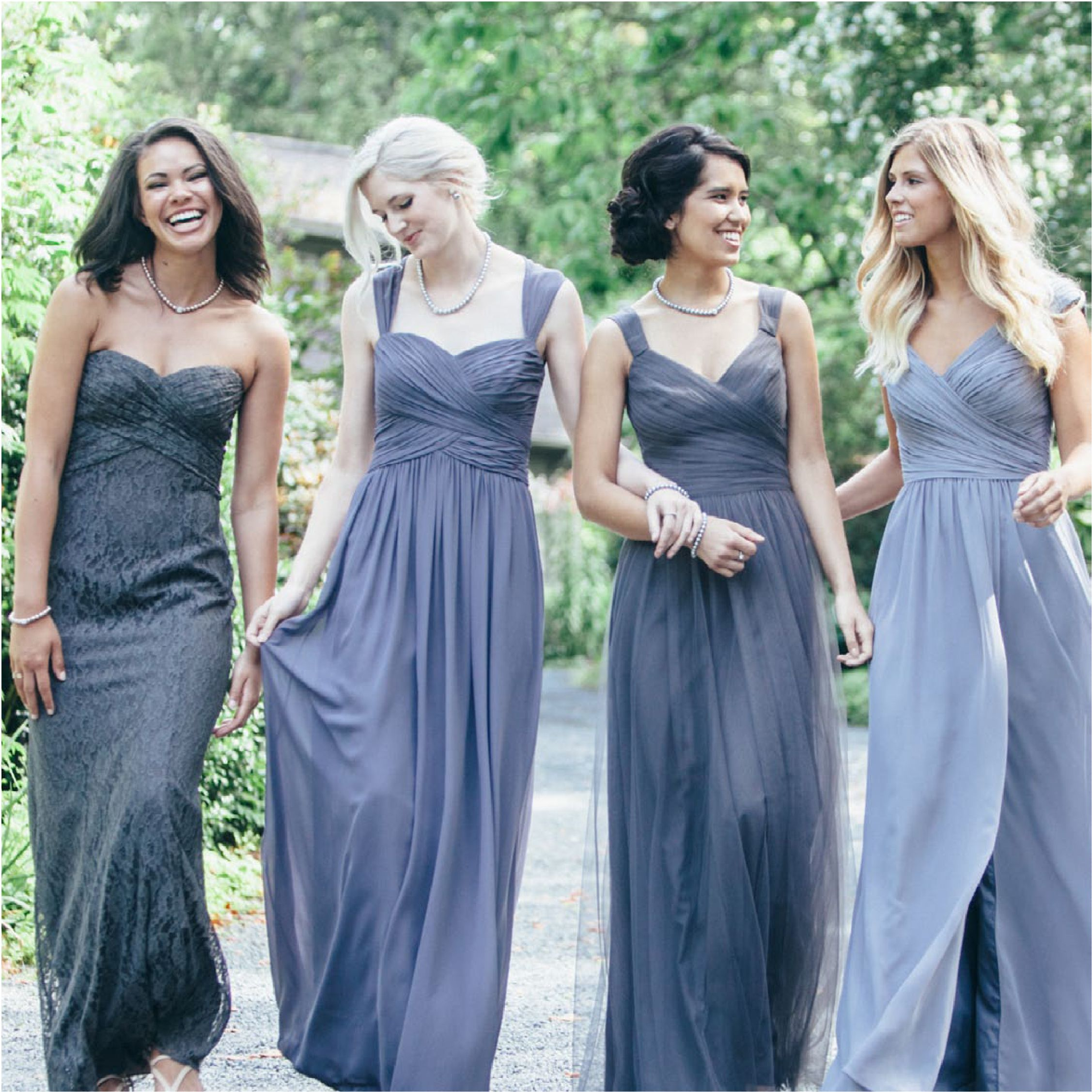 Shades of grey for yoru wedding party from David Tutera for Gather ...