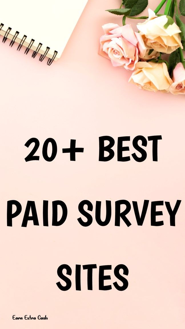 20 Best Paid Survey Sites Making Money At Home Make Money