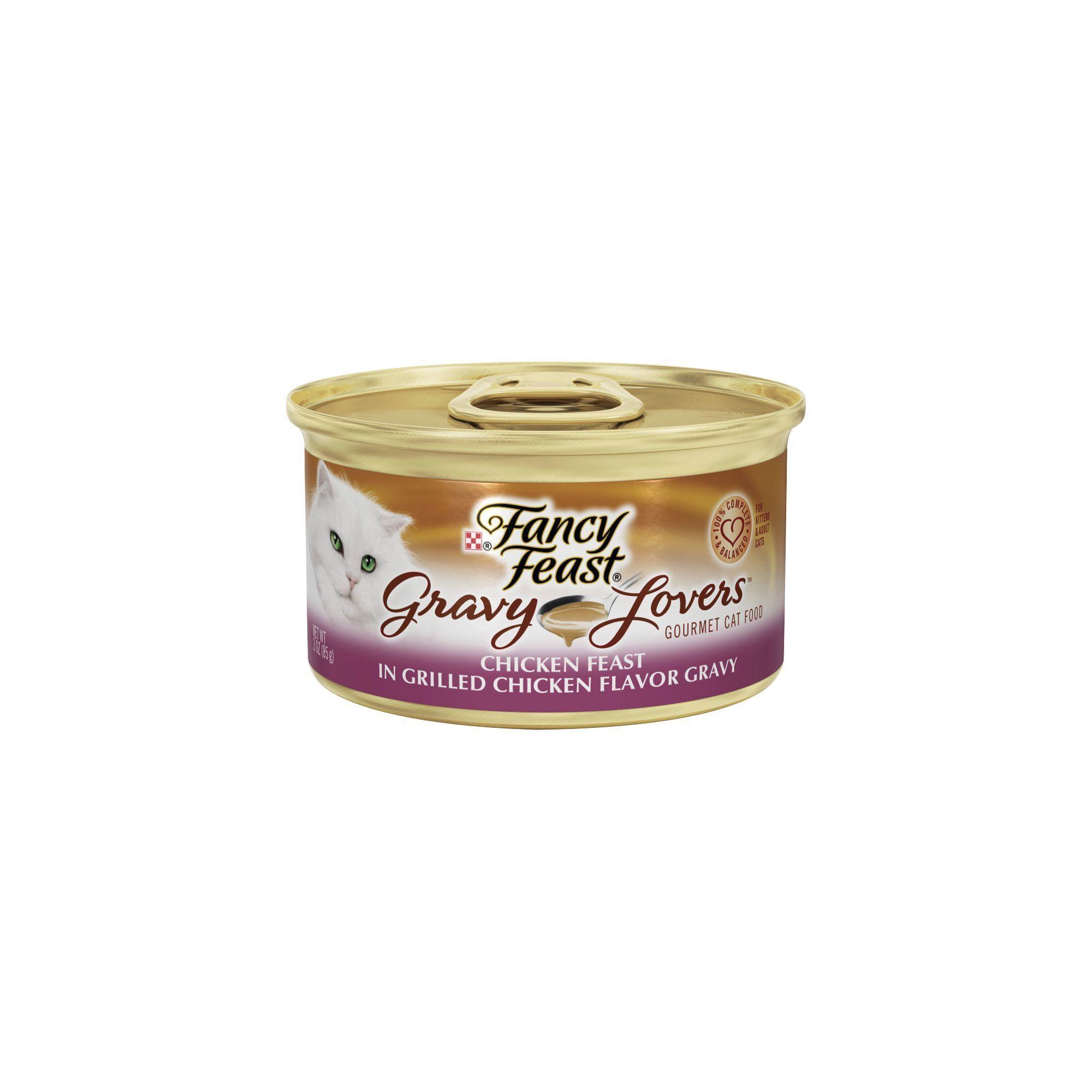 Cat food storage fancy feast gravy lovers adult cat food