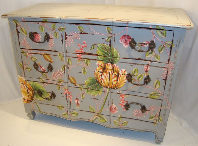 Mexican Painted Furniture | Shabby Chic Painted Furniture | Forever  Interiors | Mahogany Furniture .