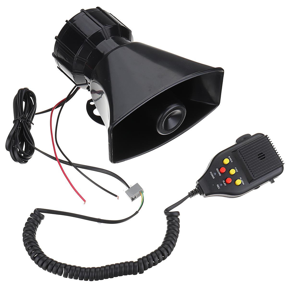 12v 3 Sound Recording Car Police Siren Horn Mic Pa Speaker System Fire Alarm Police Siren Speaker System Sound Recordings