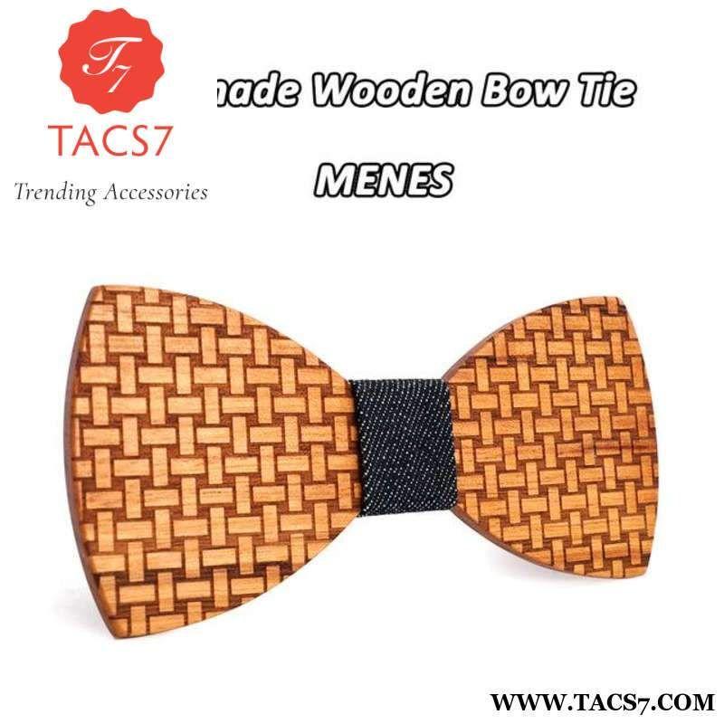 Men Handmade Wooden Bow Tie Novelty Wedding Wood Tuxed Bowtie Necktie Trend~