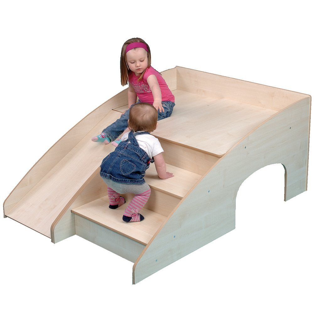Wooden Indoor Slide And Hide Indoor Slides Kids Playroom Kids Indoor Playhouse