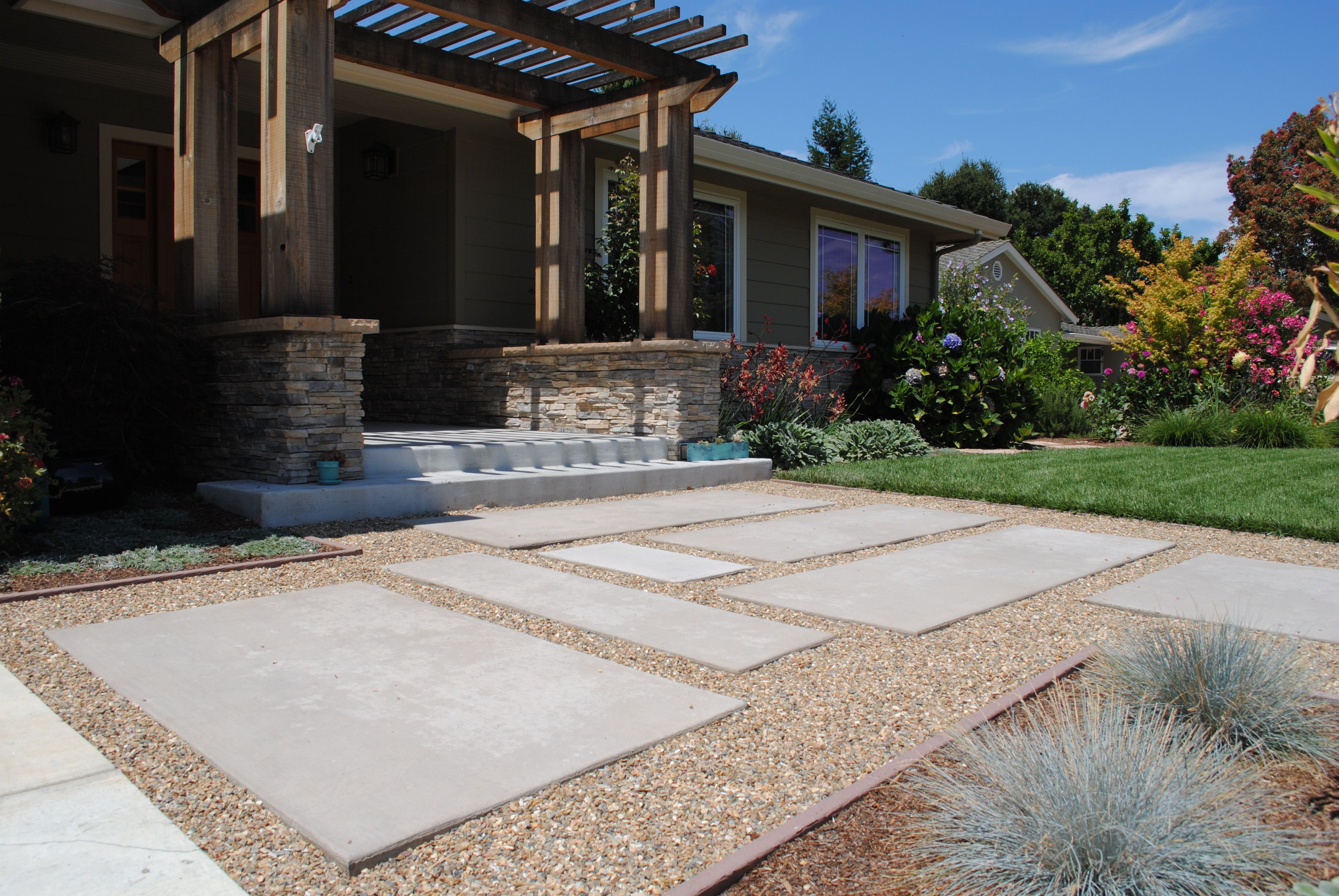 Renovation 3 Front Yard Concrete Ideas On Mountain View