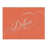 Rustic Holiday Calligraphy Script Believe Postcard  Rustic Holiday Calligraphy Script Believe Postcard  $1.00  by DP_Holidays   More Designs http://bit.ly/2g4mwV2 #zazzle