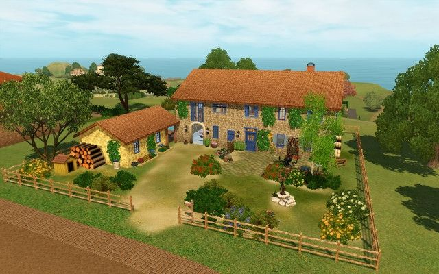 Maison Provencale By Bloup Sims 3 Downloads Cc Caboodle Sims Sims House Sims 4 House Design