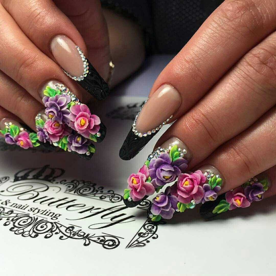 Pin von Claudia Guisao auf 3 de nails   Pinterest
