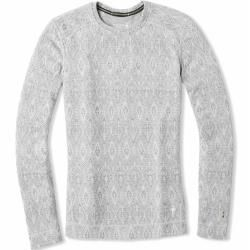 Photo of smartwool Merino 250 Baselayer Pattern Crew ladies long-sleeved shirt white L Smartwool